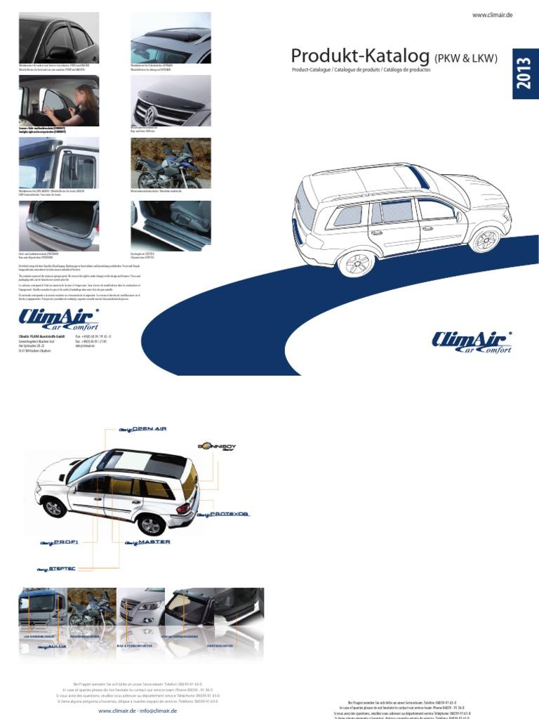 Climair ABE Windabweiser vorn Glasklar Audi A3 Sportback Typ 8PA 2004-2012