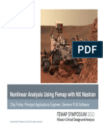 Nonlinear Analysis Using Femap With NX Nastran