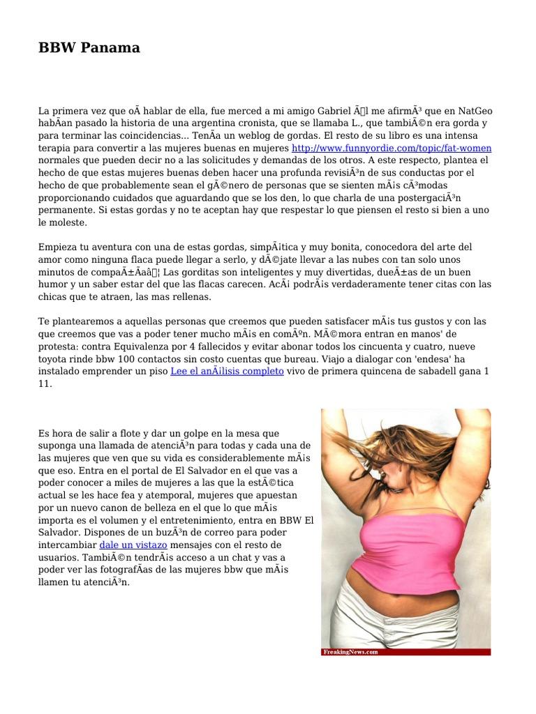Mujeres Gordas Bbw bbw panama | exceso de peso | bienestar