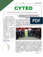 Boletín Cyted Nº23 2015 Web