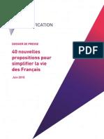 Dossier de Presse - Simplification Pour Les Particuliers