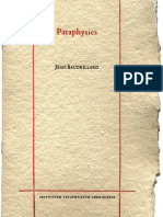 On Jean Baudrillard's Pataphysics