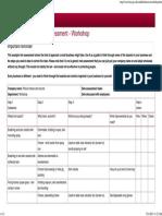 Example COSHH Risk Assessment - Workshop - COSHH