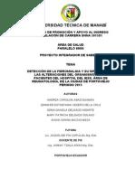 Detección de La Fibromialgia y Su Influencia en Las Alteraciones Del Organismo de Las Pacientes Del Hospital Del Iess, Área de Reumatología, De La Ciudad de Portoviejo Periodo 2015
