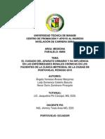 El Cuidado Del Aparato Urinario y Su Influencia en Las Enfermedades Renales Crónicas en Los Pacientes de La Clínica Metrodial de La Ciudad de Portoviejo, Periodo 2015