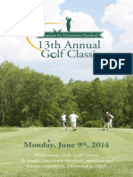 2014 Golf Classic Registration Brochure Half Letter