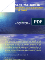Sanction, Documentation and Disbursement of Credit