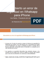 Descubierto Un Nuevo Error de Seguridad en Whatsapp Para iPhone