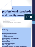 T Standards and QA