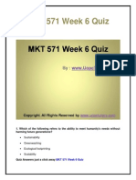 MKT 571 Week 6 Quiz UOP New Tutorials