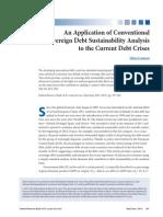 Sovereign Debt Sustainability Analysis