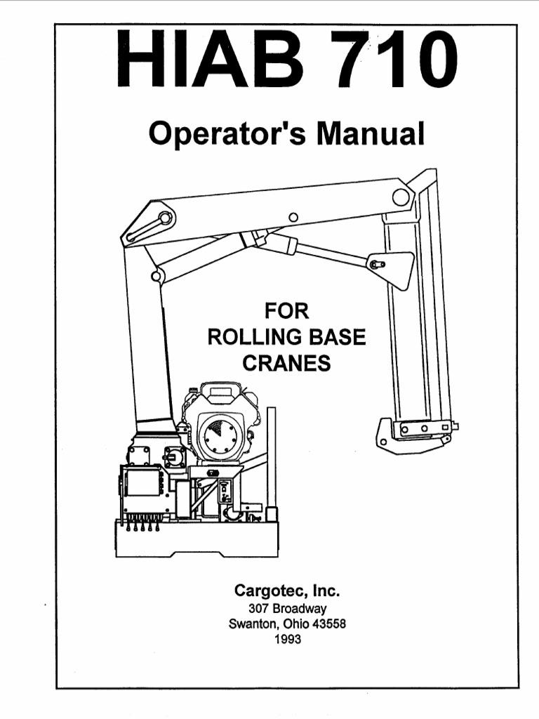 HIAB 710 Operators Manual