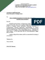 Training Letter Format