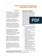 DME - Tips for Collecting, Reviewing and Analyzing Secondary Data