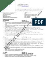 Scientific Sample Resume Sample