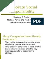 Corporate Social Responsibility Porter & Kramer
