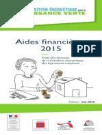 Guide Aides Financieres Renovation Habitat 2015