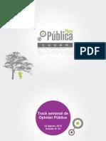 Encuesta Plaza Pública Cadem 81 - 3 de Agosto de 2015