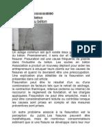 Fissuration Du Béton