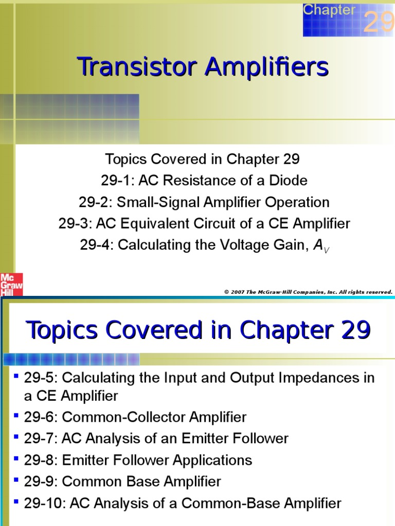 Chapter 29 Transistor Amp Amplifier Electrical Impedance Transistors Dc Voltage Grounded With Ac Input