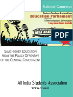 Aisa National Campaign Against Modi Governments Attack on Higher Education