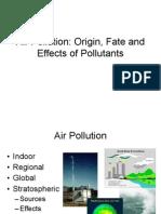 Air Pollution - Origin - Effects