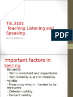 Assessing L & S Skills