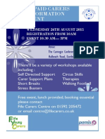West Fife Carers Event Flyer