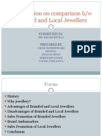 comparison b/w Branded and Local Jewellers