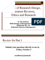 Class 4 Literature Reviews and Ethics