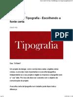 Guia Sobre Tipografia - Escolhendo a Fonte Certa