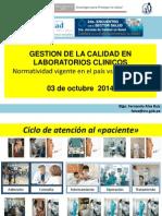 Ponencia 04 GESTION CALIDAD en Lb. Clinicos