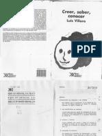 Villoro Luis - Creer Saber Conocer