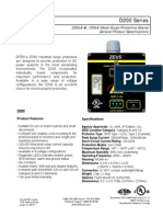 Ditek D200-120 Data Sheet