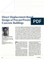 Direct Displacement-Based Design of Precast Prestressed Concrete Buildings