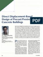 Direct Displacement-Based Design of Precast Prestressed Concrete Buildings
