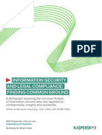 Kaspersky Information Security Compliance Whitepaper