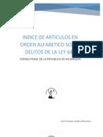 Indice de Articulos en Orden Alfabetico Sobre Delitos en La Ley 641