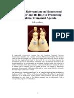 Humanism and Irish Homosexual 'Marriage'