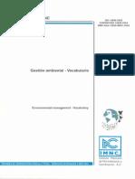 Vocabulario de Gestión Ambiental IMNC
