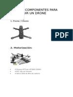 Lista de Componentes Para Construir Un Drone