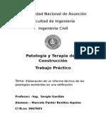 informe de patologia
