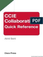 Ccie Collaboration Quick Reference Cisco Press
