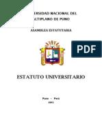 Estatuto Universitario Concluido en Sesiones Plenarias de La Ae
