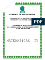 Cuaderno de Actividades Matematicas 4