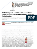A Motivação e a Desmotivação_ Duas Faces de Uma Mesma Moeda Na Vida Do Trabalhador. - Artigos - Carreira - Administradores