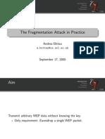 Fragmentation Attack in Practice