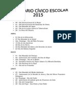 Calendario Civico Escolar y Reseña Historica- 2015