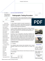 Radiographic Testing Procedure