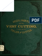 Vest Cutting - A Manual for the Practical Tailor and Cutter -1883